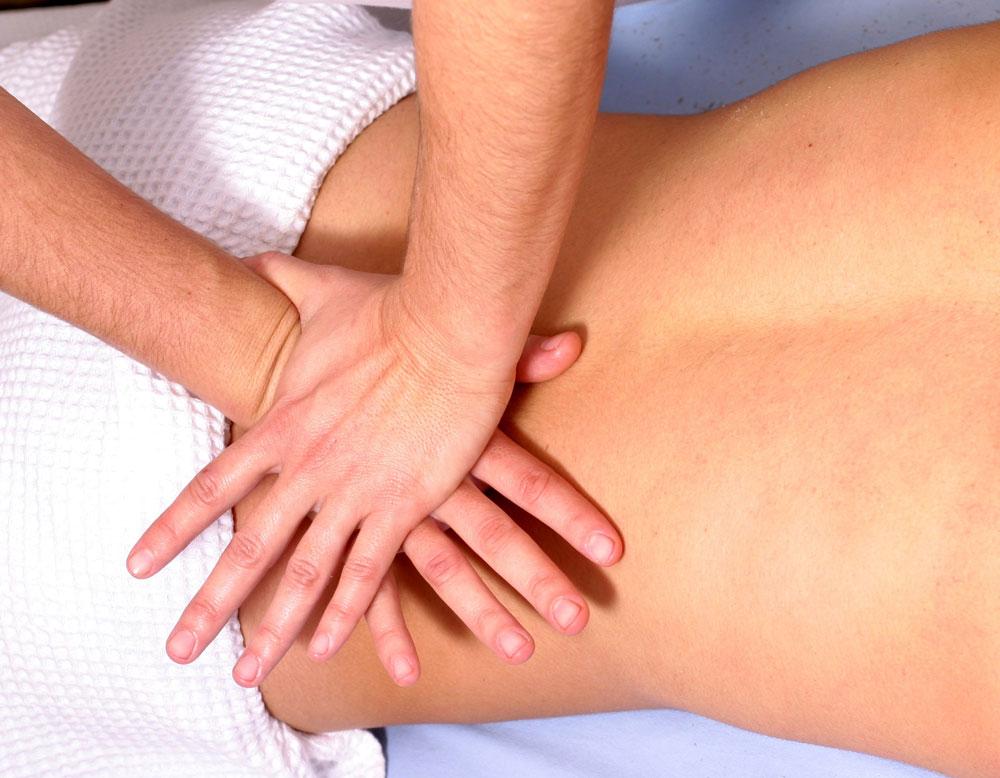 Rückenmassage Schwinkissentherapie